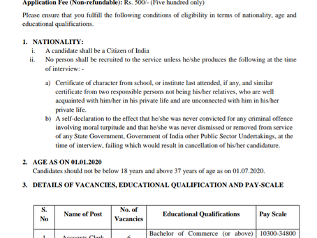 Punjab Wakf Board Recruitment 2020: 173 Posts for Accounts Clerk, Section Officer and Other Posts