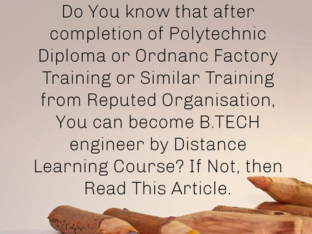 How to do Engineering from Distance Learning? What is AMIE?