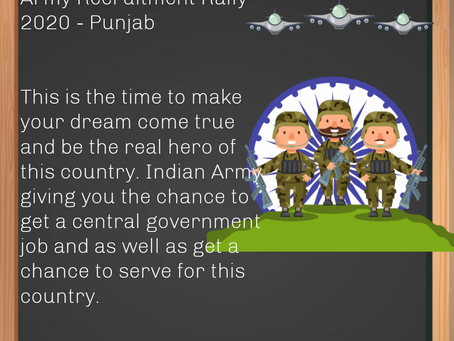 Army Recruitment Rally 2020 - Punjab