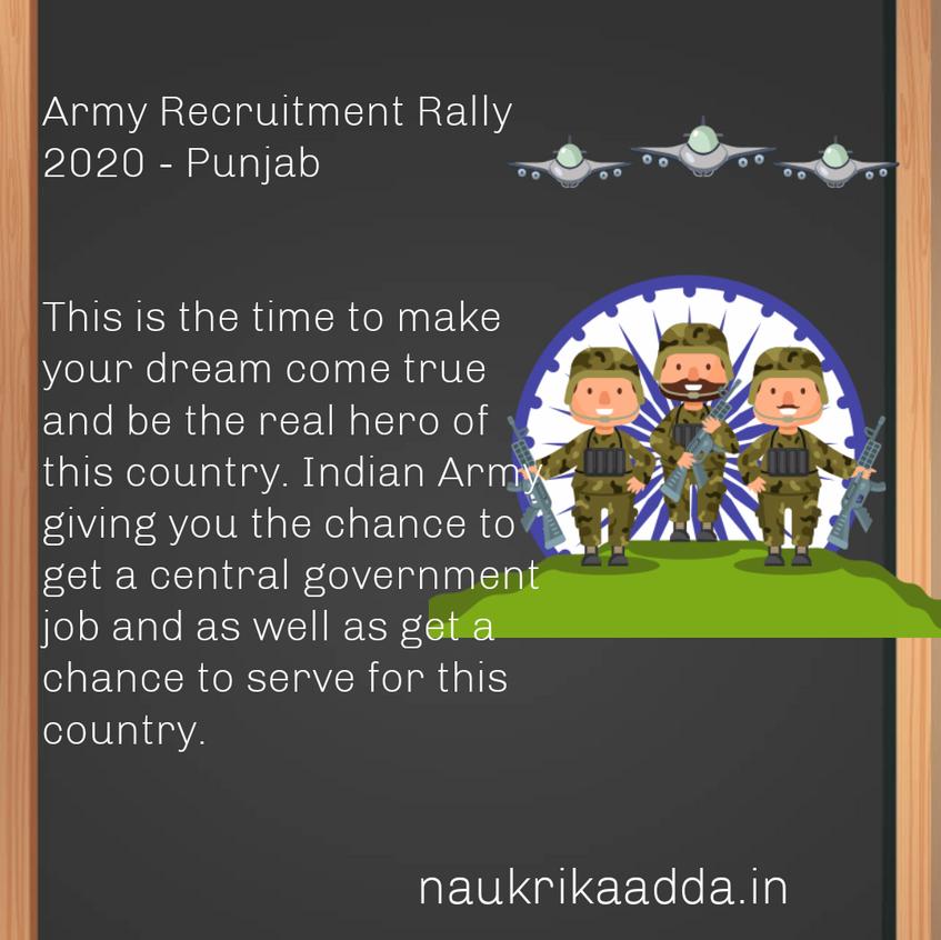 Army Recruitment Rally 2020 - Punjab