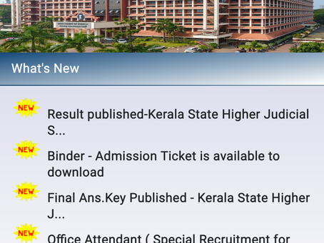 Kerala Higher Judicial Service Exam 2020: Pre Result Out. Check Now
