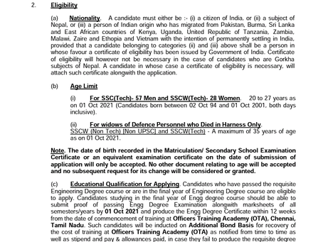 Indian Army Officers (Tech & Non Tech) Recruitment 2021: 191 Vacancies