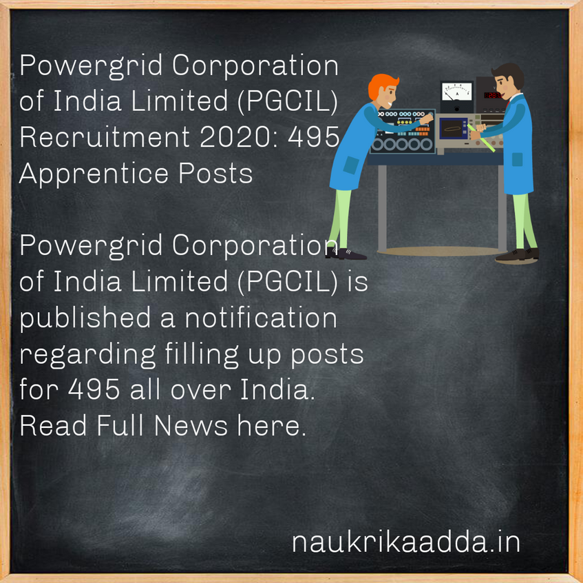 Powergrid Corporation of India Limited (PGCIL) Recruitment 2020: 495 Apprentice Posts