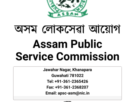 APSC Combined Competitive (Mains) Exam 2019 Results & Interview Date Announced