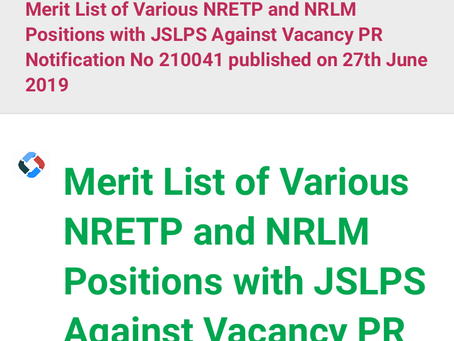 JSLPS Results 2020 – Block Project Officer, Accounts Officer & Other Merit List Declared. Check Now