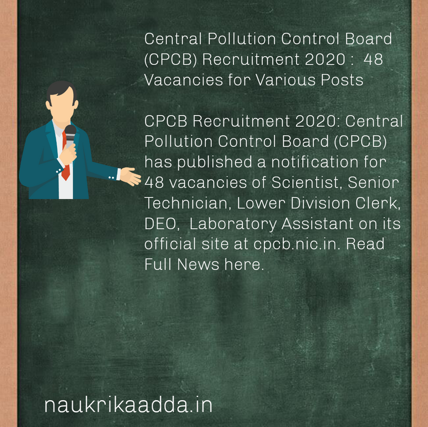 Central Pollution Control Board Recruitment 2020