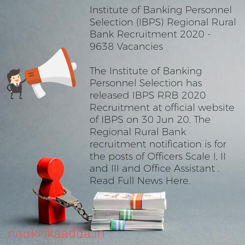 Institute of Banking Personnel Selection (IBPS) Regional Rural Bank Recruitment 2020 - 9638 Vacancies