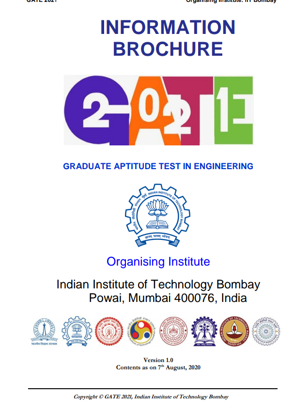 Graduate Aptitude Test (GATE) 2021 in Engineering - Notification Out
