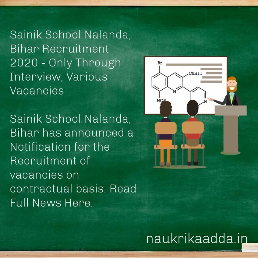 Sainik School Nalanda, Bihar Recruitment