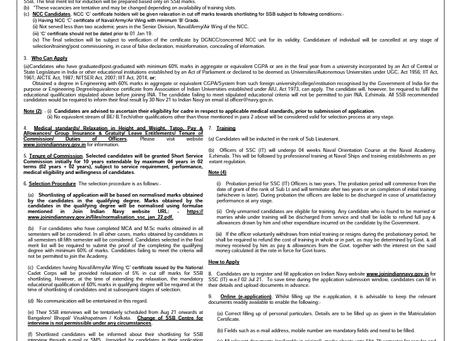 Indian Navy SSC (IT) Officer Recruitment 2021