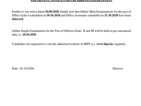 IBPS RRB PO, Clerk Main Exam 2020 Postponed- Check Full News Here