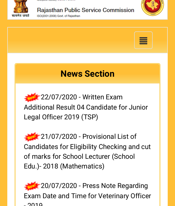 Rajasthan Public Service Commission (RPSC) 1st Grade School Lecturer Recruitment 2018: Result and Cut Off Declared