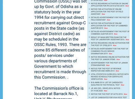 OSSC Recruitment 2020: 235 Vacancies For Excise SI and Soil Conservation Extension Worker