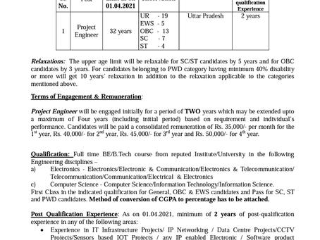 BEL Project Engineer Recruitment 2021: 268 Vacancies