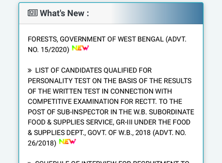 West Bengal Public Service Commission (WBPSC) Recruitment 2020 - Assistant Soil Chemist Post
