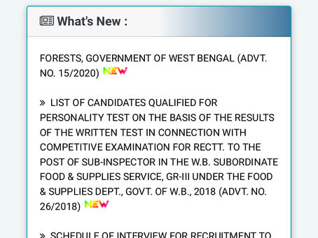 West Bengal Public Service Commission (WBPSC) Recruitment 2020 - Assistant Soil Chemist Post