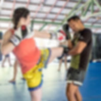 Muay Thai training for women