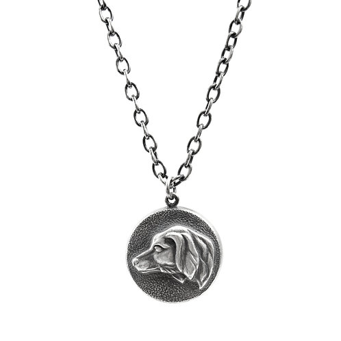 House of Hoye Dog's Head Silver Necklace