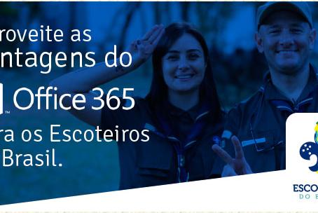 Aproveite as vantagens do Office 365 para os escoteiros do Brasil