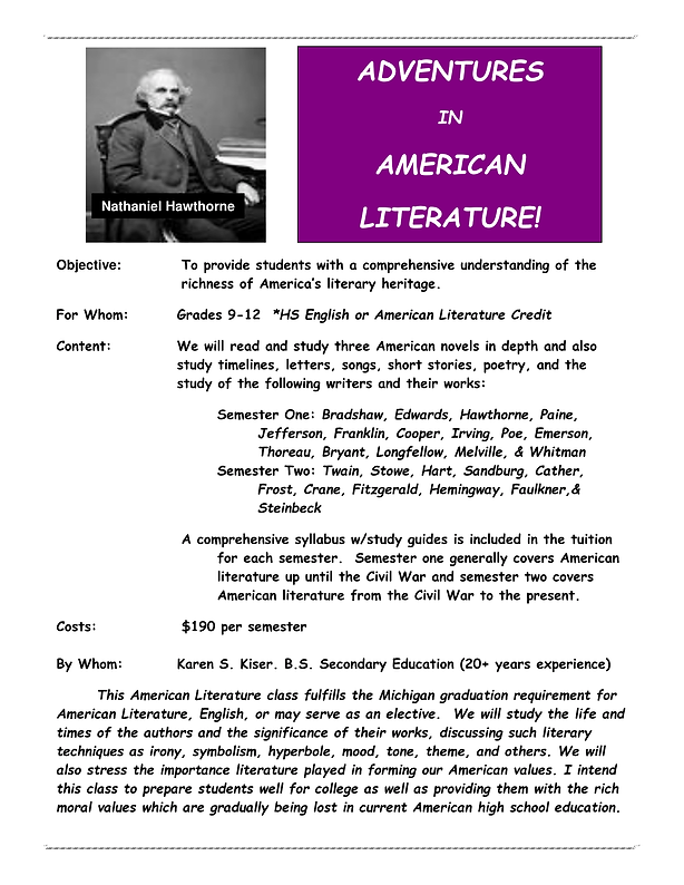 Adventures in American Literatuure 2018-