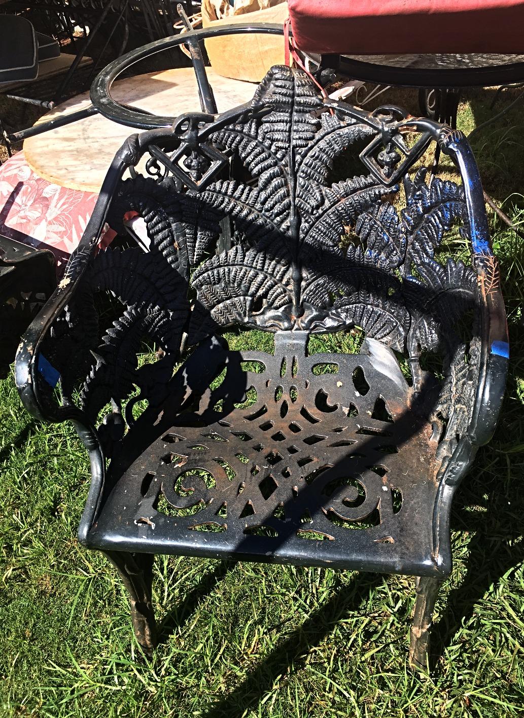 1930's Cast Iron Fern Chairs