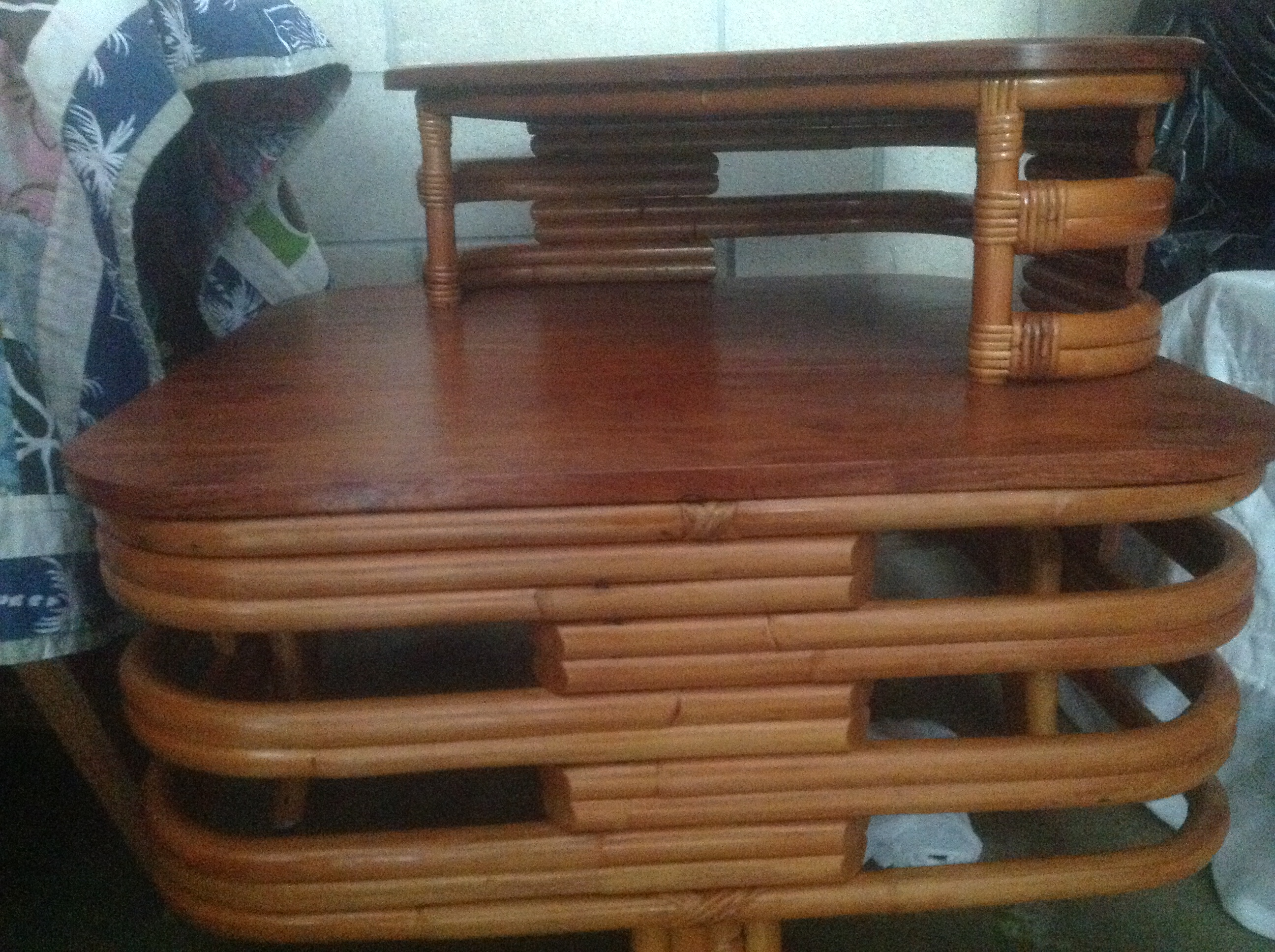 'SOLD      ' Bamboo Table pic #2