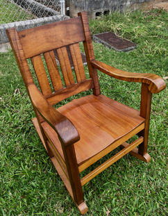 Hawaiian Curly Koa Queen Rocker