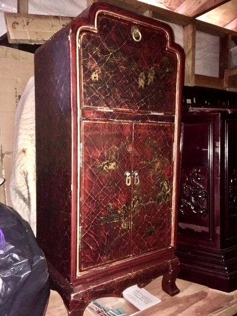 Late 1800 small Oriental sideboard