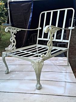 1 of 2 1950's Cast Aluminum chairs