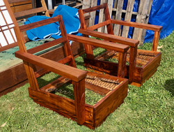 JUST SOLD - 1950's Koa chairs