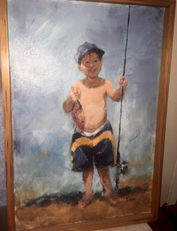 """""""MY FIRST FISH"""" by Al Furtado"""