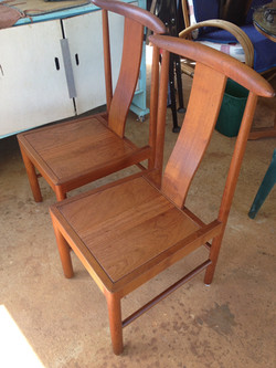 Refinished 1950's Danish Mod chairs