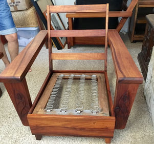 1950s Princess Hawaiian Koa chair