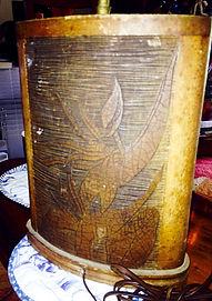 1960'S CARVED HAWAIIAN KOA LAMP