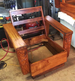 1930's Hawaiian Koa Platform chair in its Original finish