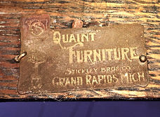 Stickley Brothers Furniture Company 1902 Brass Tag