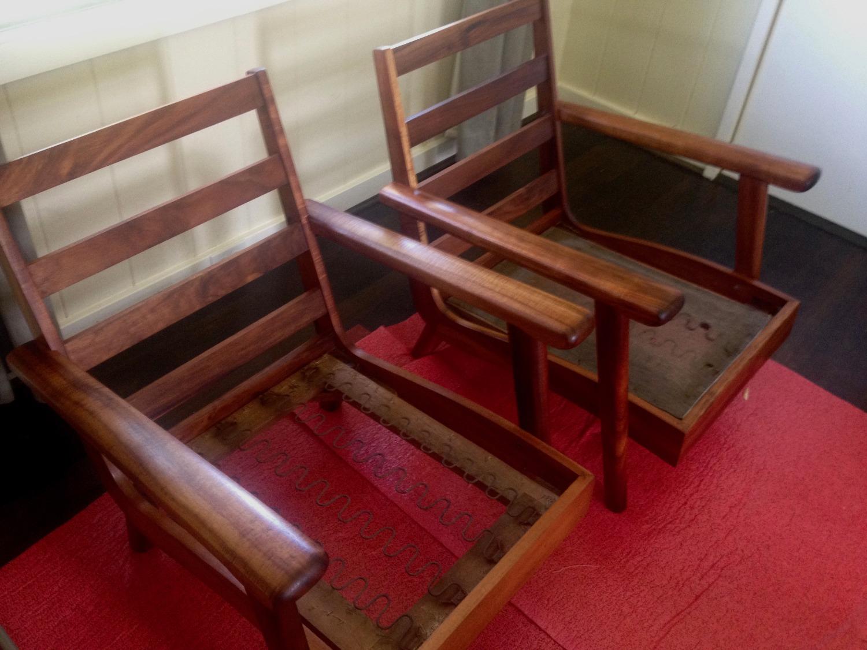 Mid Century Mod Koa Chairs
