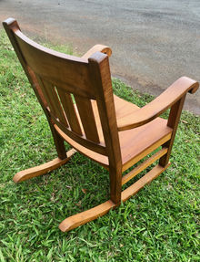 """1890's"" Hawaiian Curly Koa Queen Rocker"
