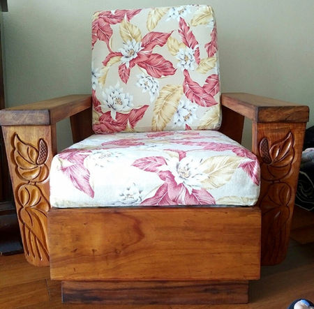 1930's Hawaiian Koa Chair - ORIGINAL FINISH