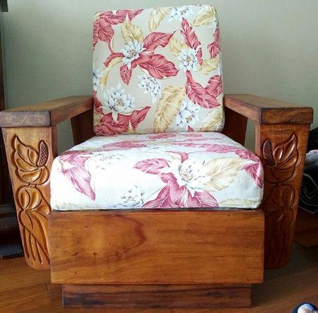 1930's Hawaiian Koa Chair - ORIGINAL FINISH