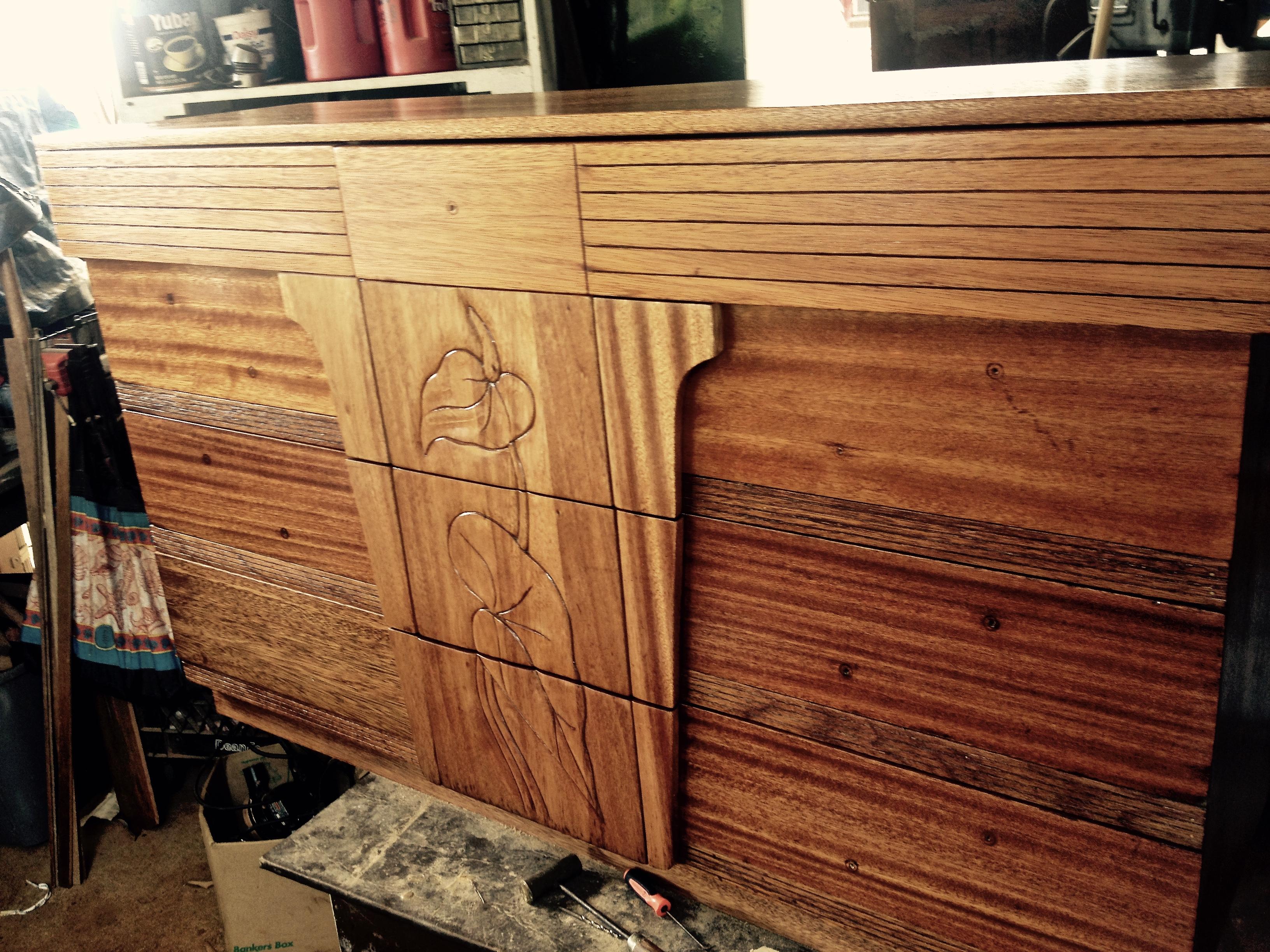 SOLD - 1950's Mahogany Dresser