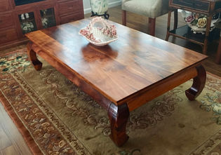 SOLD 1950's Hawaiian Koa Chow Table