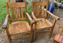 1900 Hawaiian Koa Captain chairs
