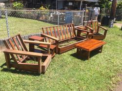 1950s Hawaiian Koa Living Room set