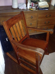 JUST IN - CA 1900 HAWAIIAN KOA QUEEN ROCKER
