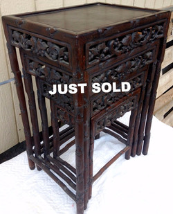 1870 Chinese Rosewood Nesting table