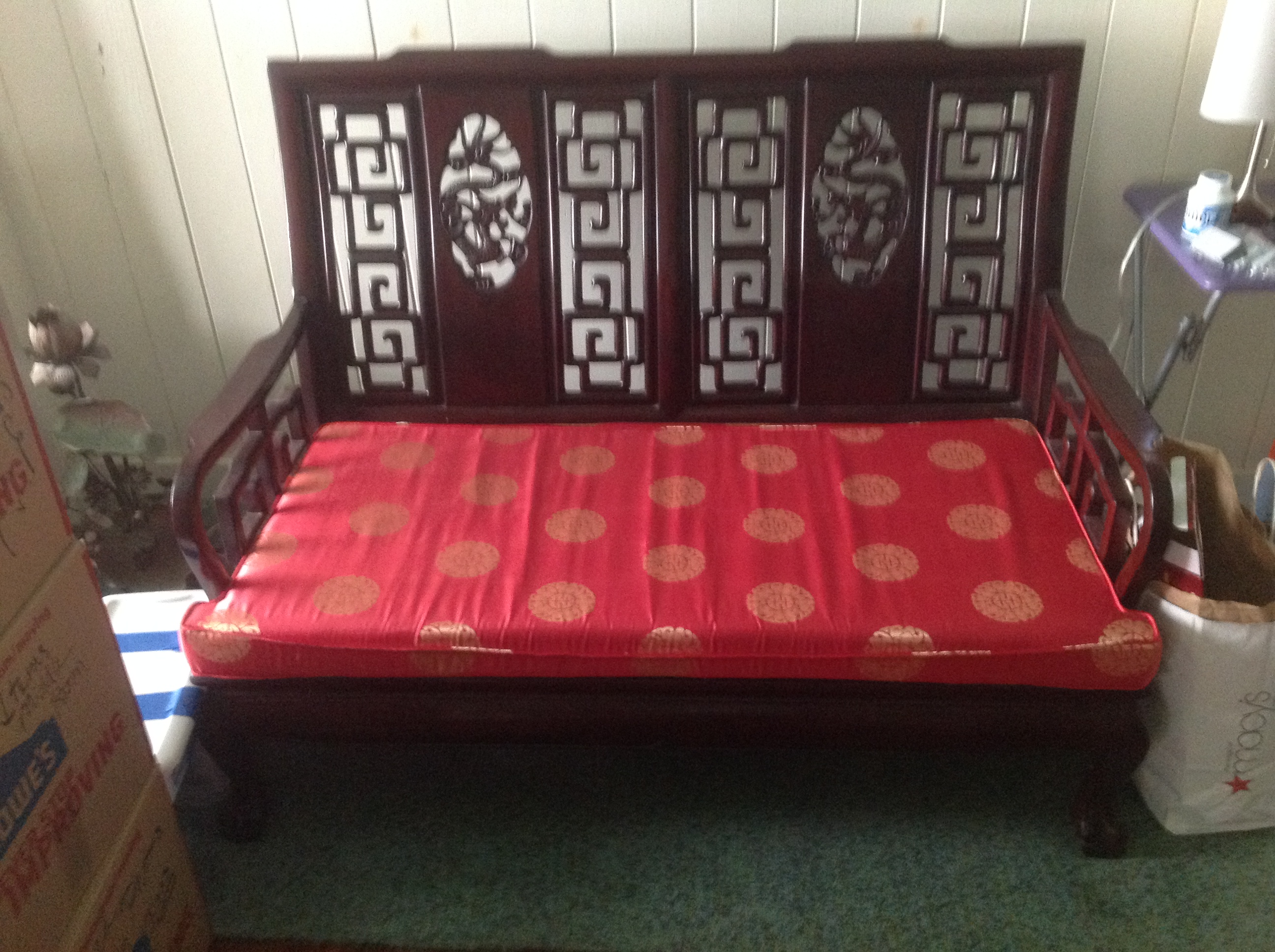 Chinese Rosewood Sofa