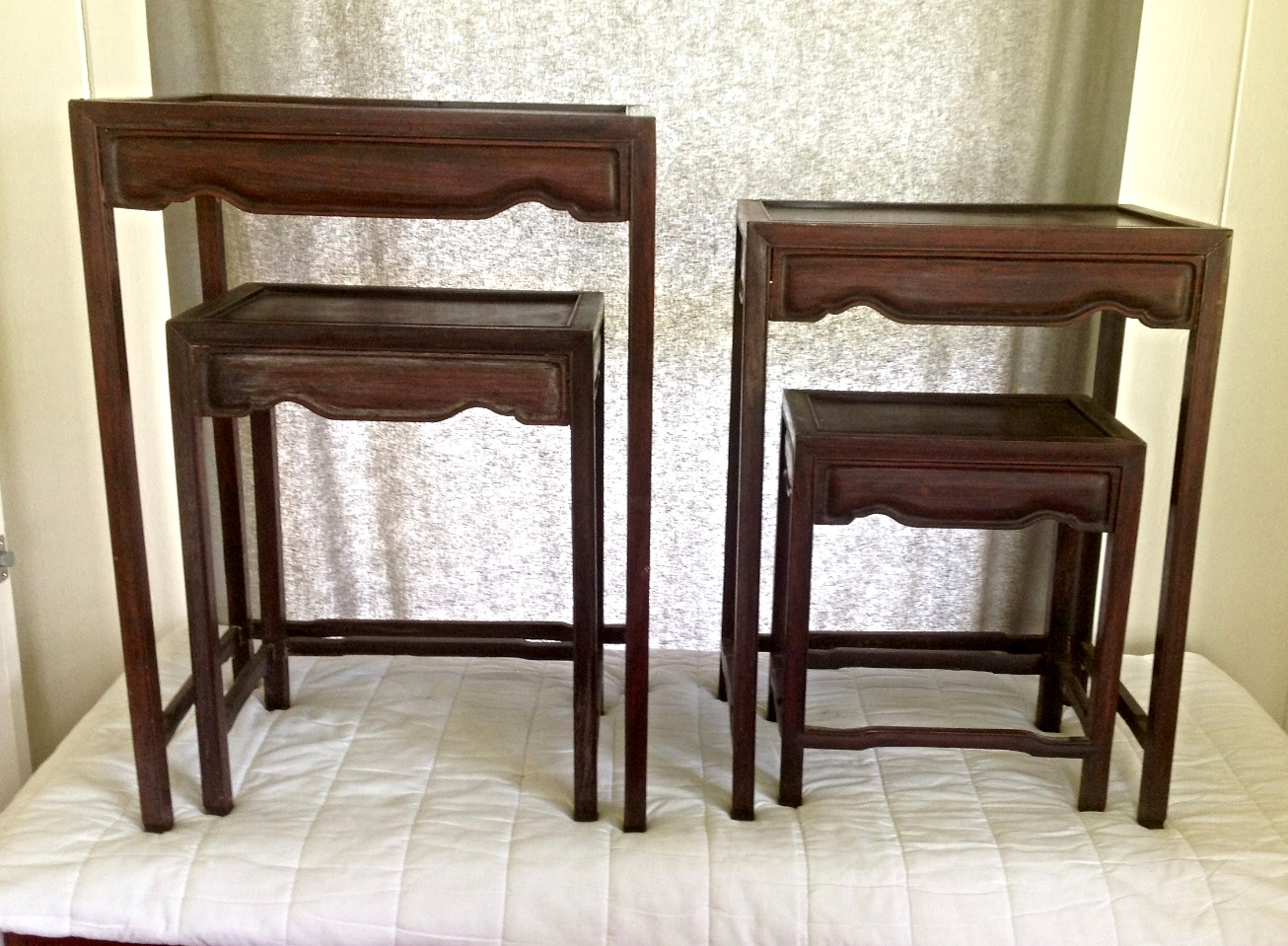 SOLD 1880's Rosewood Nesting Tables