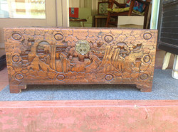 1940s Craved Chinese Trunk
