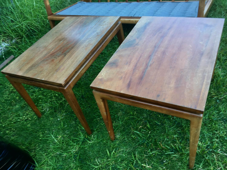 Hawaiian Koa Mid Century Mod tables